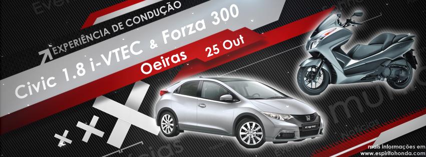 espírito   Honda - Honda Civic 1.8 i-VTEC e Honda Forza 300 20131025_civic&Forza